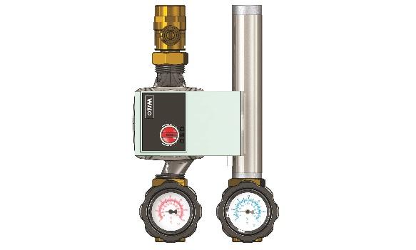 """Насосная группа, смесительная, DN 20, с насосом Wilo-Yonos RS Para 15-130/7-50 -G1"""", с термостатическим клапаном 25-55°C"""