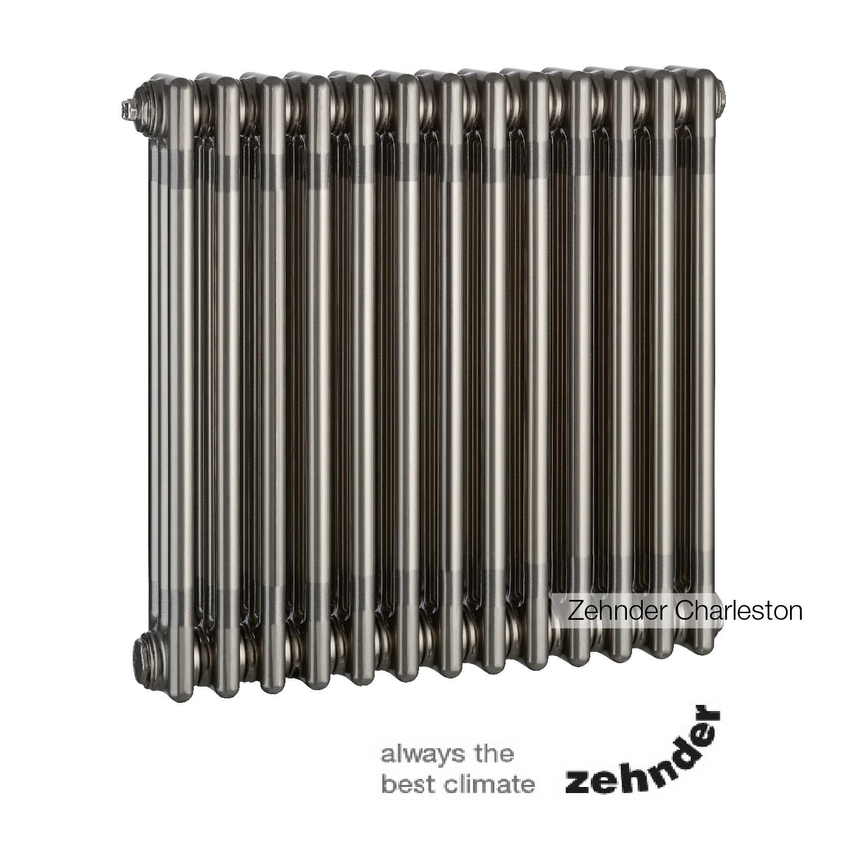 Радиатор Zehnder Charleston 3057 / 22 секции, нижнее подключение со встроенным термовентилем, цвет 0325 TL (TechnoLine)