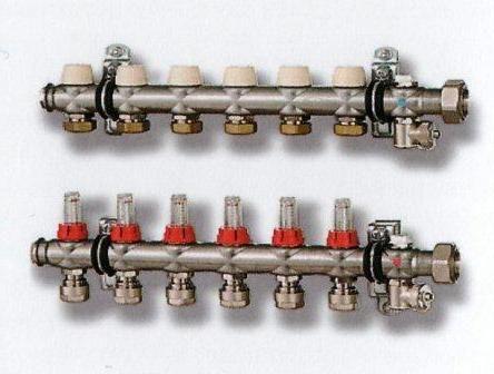 """Коллектор т/п c расходомером 11/4""""х 8 х3/4"""" (пара) SFVT08000000"""