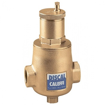 """Деаэратор Caleffi Discal для горизонтальных трубопроводов, со сливом, 2"""""""