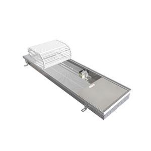 Внутрипольный конвектор с вентилятором EVA COIL - KB 60 - 3000, теплоотдача 3688 - 4850 Вт.