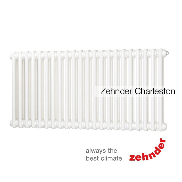 Радиатор Zehnder Charleston 2056 / 30 секций, нижнее подключение со встроенным термовентилем