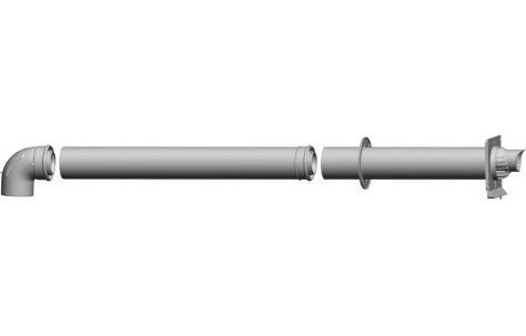 Комплект концентрического горизонтального прохода через стену DN80/125 2651495